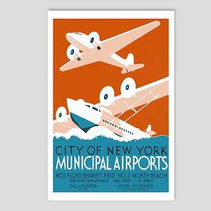 NY City Municipal Airports Postcards 8pk