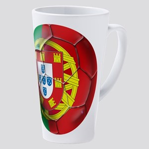 Portuguese Football Soccer 17 Oz Latte Mug