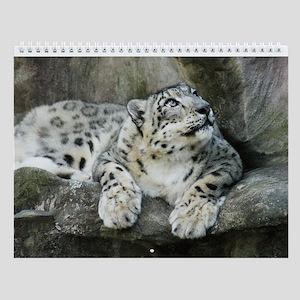 Snow Leopard B005 Wall Calendar