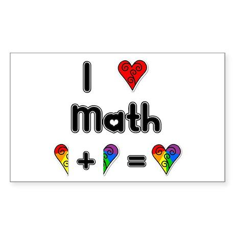 I Love Math Rectangle Sticker 50 pk)