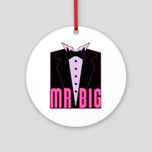 Mr Big Tuxedo Tux Ornament (Round)