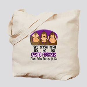 See Speak Hear No Cystic Fibrosis Tote Bag