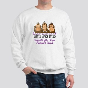 See Speak Hear No Cystic Fibrosis Sweatshirt