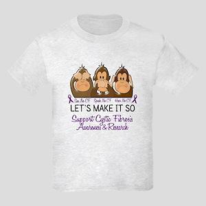 See Speak Hear No Cystic Fibrosis Shirt Kids Light