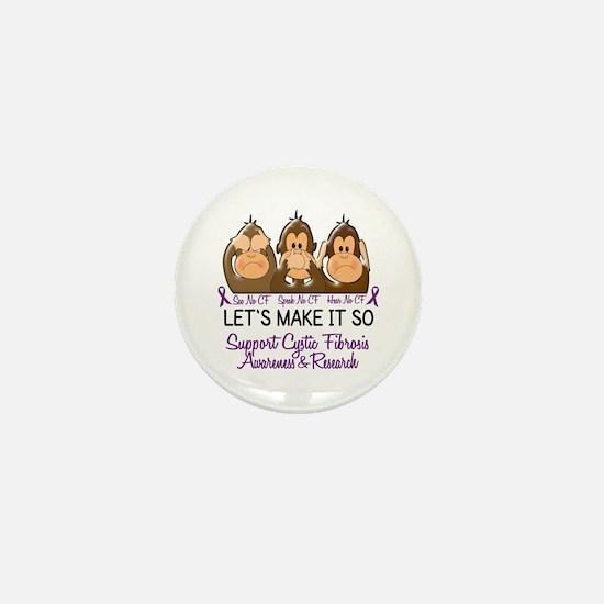 See Speak Hear No Cystic Fibrosis Mini Button