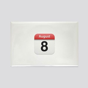 Apple iPhone Calendar August 8 Rectangle Magnet