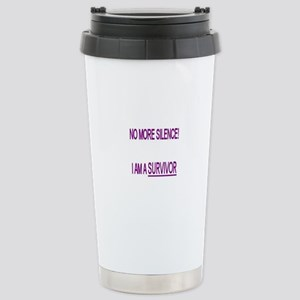 """No more"" Stainless Steel Travel Mug"