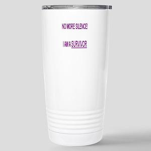 """No more"" Stainless Steel Travel Mug"