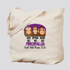 See Speak Hear No Fibromyalgia 1 Tote Bag