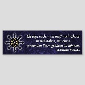 Chaosphere Bumper Sticker - Deutsch
