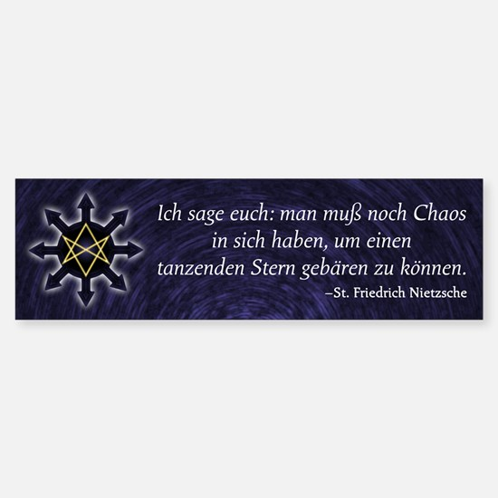 Chaosphere Bumper Sticker - Deutsch