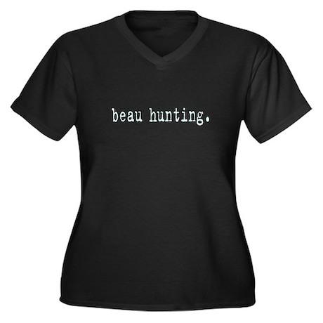 beau hunting Women's Plus Size V-Neck Dark T-Shirt