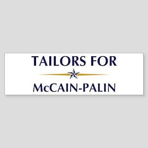 TAILORS for McCain-Palin Bumper Sticker