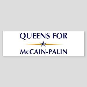 QUEENS for McCain-Palin Bumper Sticker