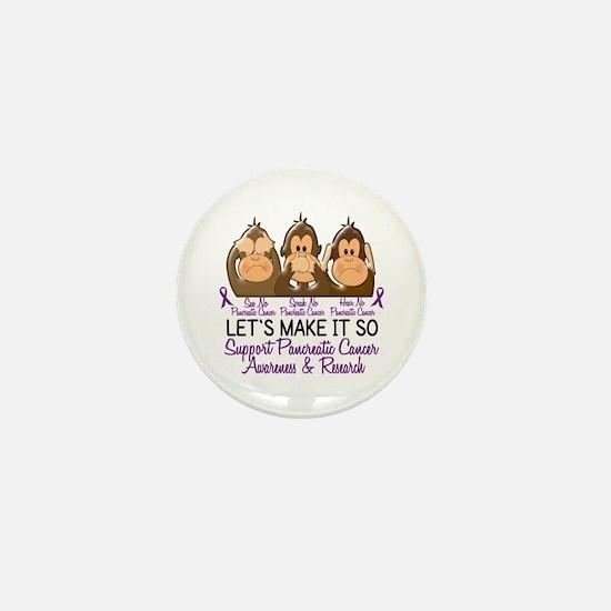See Speak Hear No Pancreatic Cancer 2 Mini Button