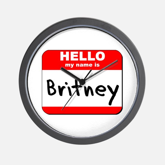 Hello my name is Britney Wall Clock