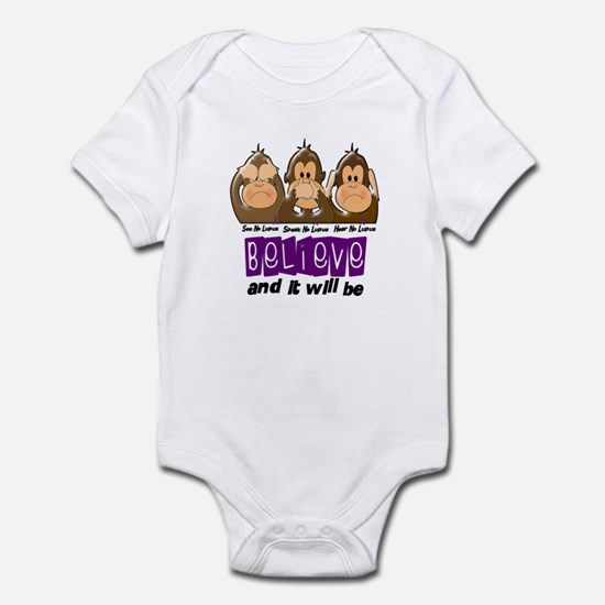 See Speak Hear No Lupus 3 Infant Bodysuit
