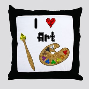 I Love Art Throw Pillow