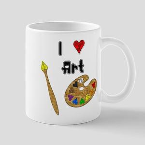 I Love Art Mug