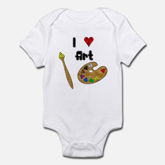 I Love Art Infant Bodysuit