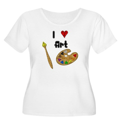 I Love Art Women's Plus Size Scoop Neck T-Shirt