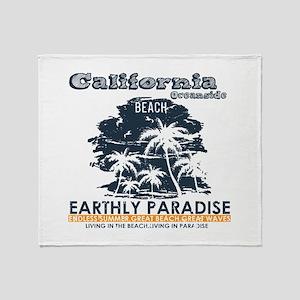 California - Oceanside Throw Blanket