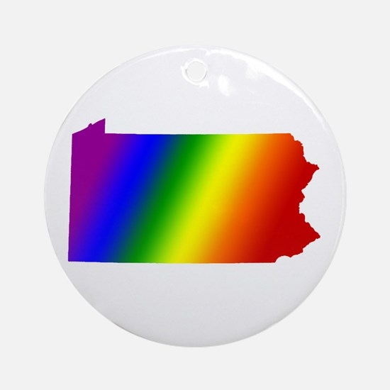 Pennsylvania Gay Pride Ornament (Round)