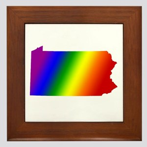 Pennsylvania Gay Pride Framed Tile