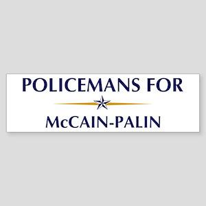 POLICEMANS for McCain-Palin Bumper Sticker