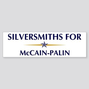 SILVERSMITHS for McCain-Palin Bumper Sticker