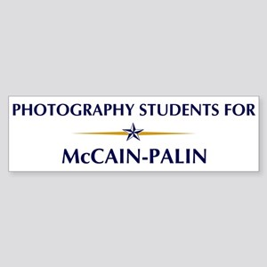 PHOTOGRAPHY STUDENTS for McCa Bumper Sticker