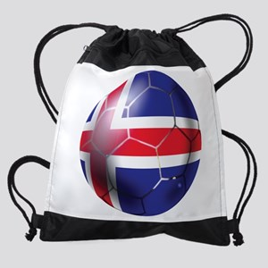 Iceland Soccer Ball Drawstring Bag