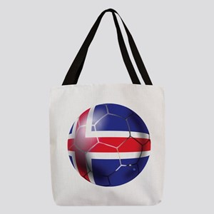 Iceland Soccer Ball Polyester Tote Bag
