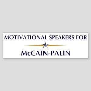 MOTIVATIONAL SPEAKERS for McC Bumper Sticker