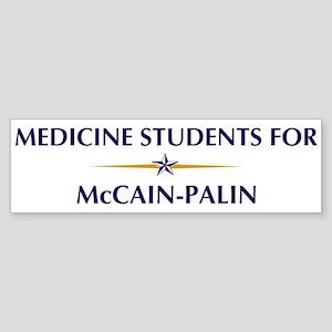 MEDICINE STUDENTS for McCain- Bumper Sticker