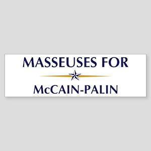 MASSEUSES for McCain-Palin Bumper Sticker