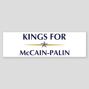 KINGS for McCain-Palin Bumper Sticker