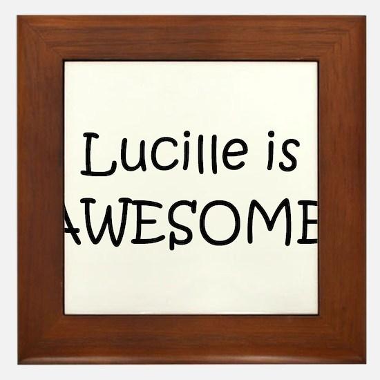 Unique Lucille Framed Tile