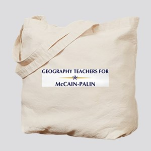 GEOGRAPHY TEACHERS for McCain Tote Bag