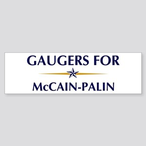 GAUGERS for McCain-Palin Bumper Sticker
