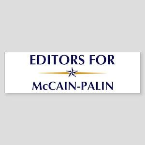 EDITORS for McCain-Palin Bumper Sticker