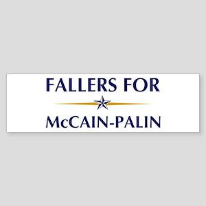 FALLERS for McCain-Palin Bumper Sticker