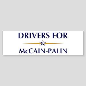 DRIVERS for McCain-Palin Bumper Sticker