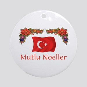 Turkey Mutlu Noeller Ornament (Round)
