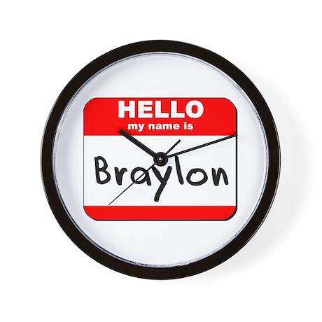 Hello my name is Braylon Wall Clock