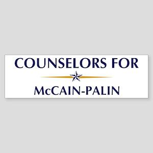 COUNSELORS for McCain-Palin Bumper Sticker