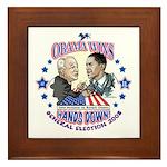 Obama Arm Wrestles McSame Framed Tile
