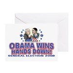 Obama Arm Wrestles McSame Greeting Card