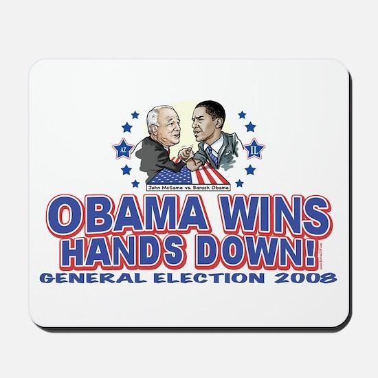 Obama Arm Wrestles McSame Mousepad