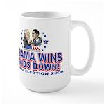 Obama Arm Wrestles McSame Large Mug